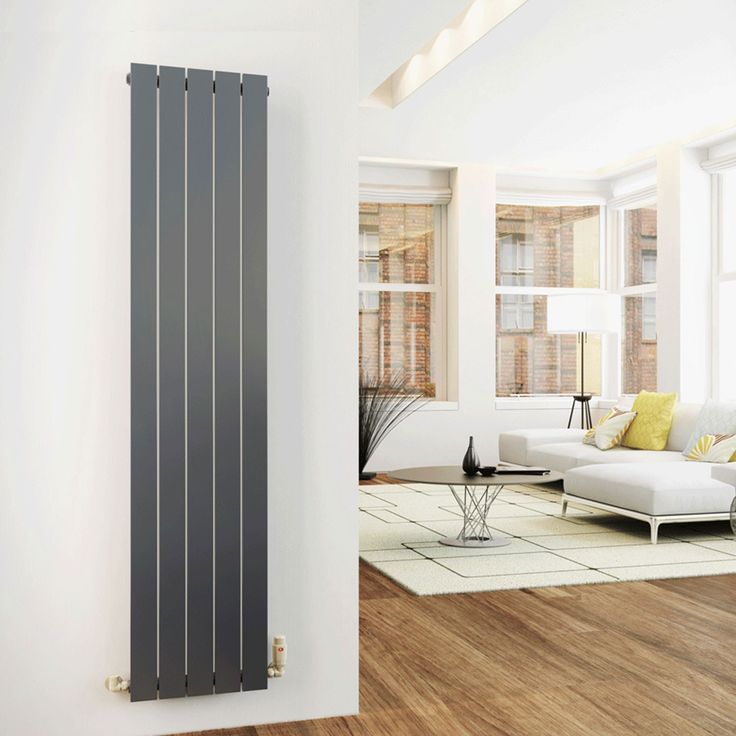 IRIS Anthracite 1600x376 Vertical Flat Panel Designer Radiator Central  Heating