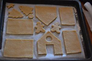 come preparare una casetta pan di zenzero - fase 1