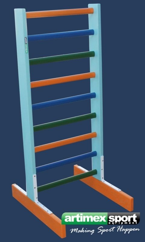Size: 140x60 cm, Freestanding Swedish ladder, Product code 250-Multicolor