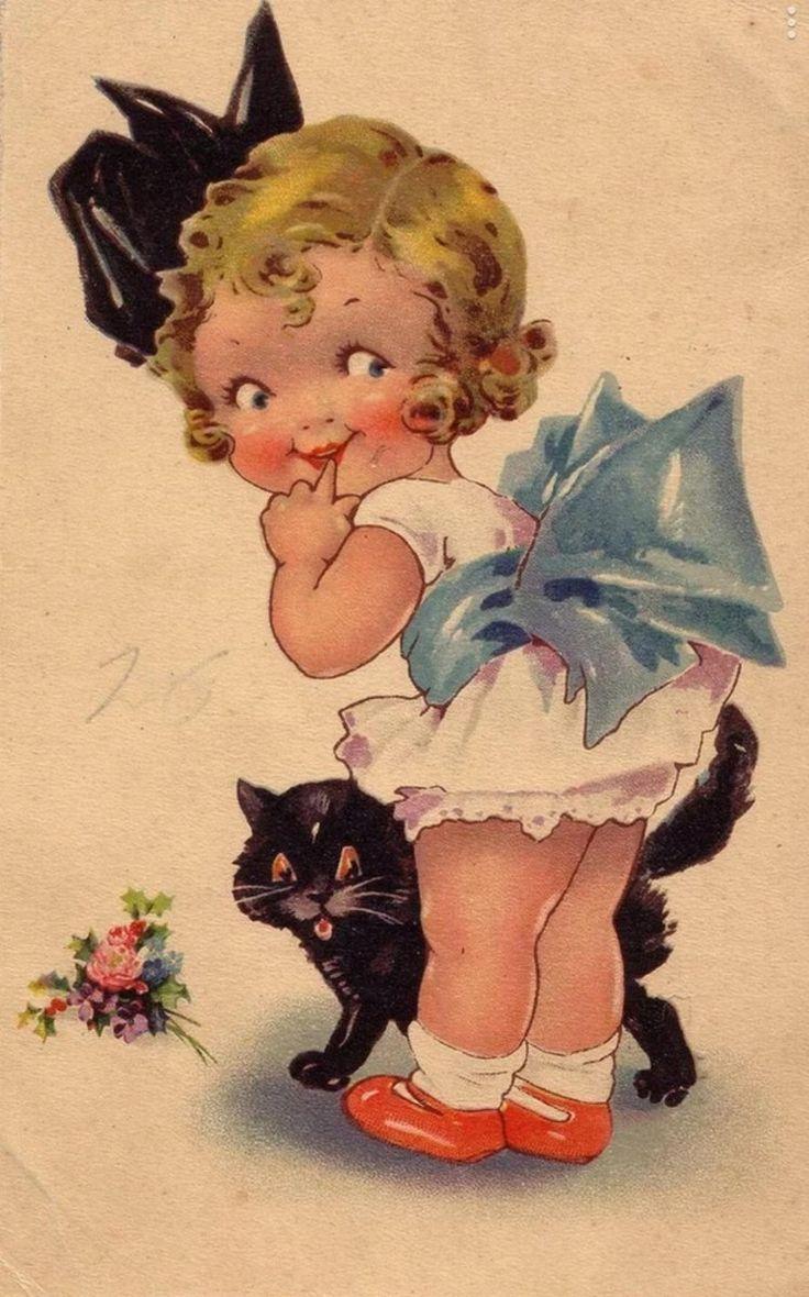 Открытки, старые открытки детей