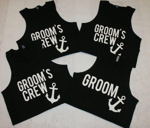 Grooms Crew Tanks. Groomsmen tank tops. by BrideAndEntourage