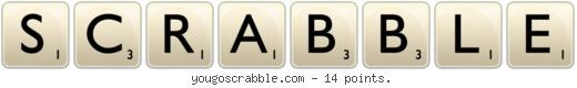 Scrabble - this boards cover.
