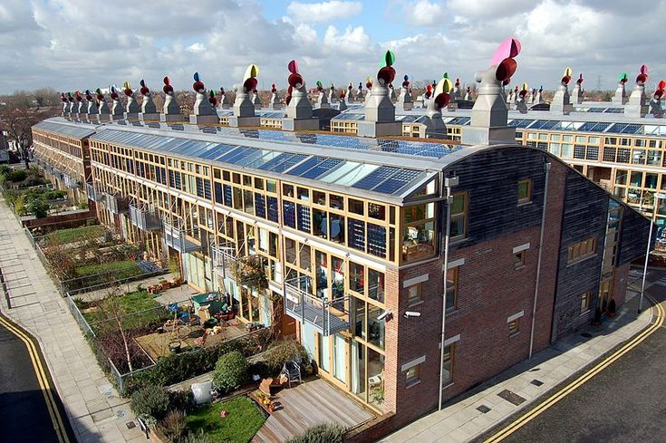 Homes made from recycled wood that generate their own electricity.  The future made from the past? Its already here in London.