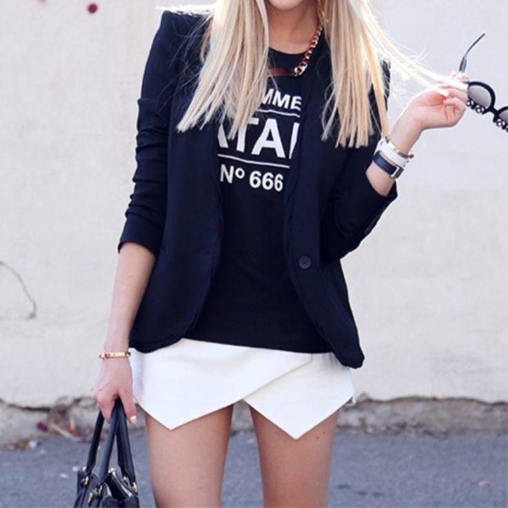 Falda blanca asimetrica
