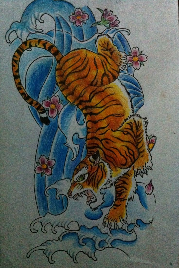 31 best asian tiger tattoo drawings images on pinterest for Japanese tattoo flash