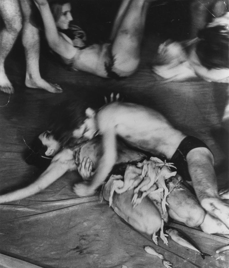 "Carolee Schneemann, ""Meat Joy"" (1964)"