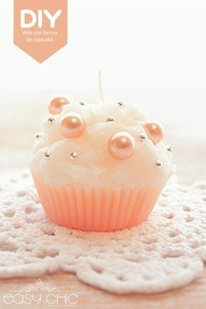 DIY: cupcake candle. Como hacer velas con forma de cupcake.
