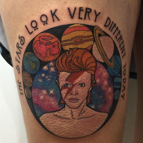 28 best some of my tattoo works images on pinterest for Bowie tattoo ideas