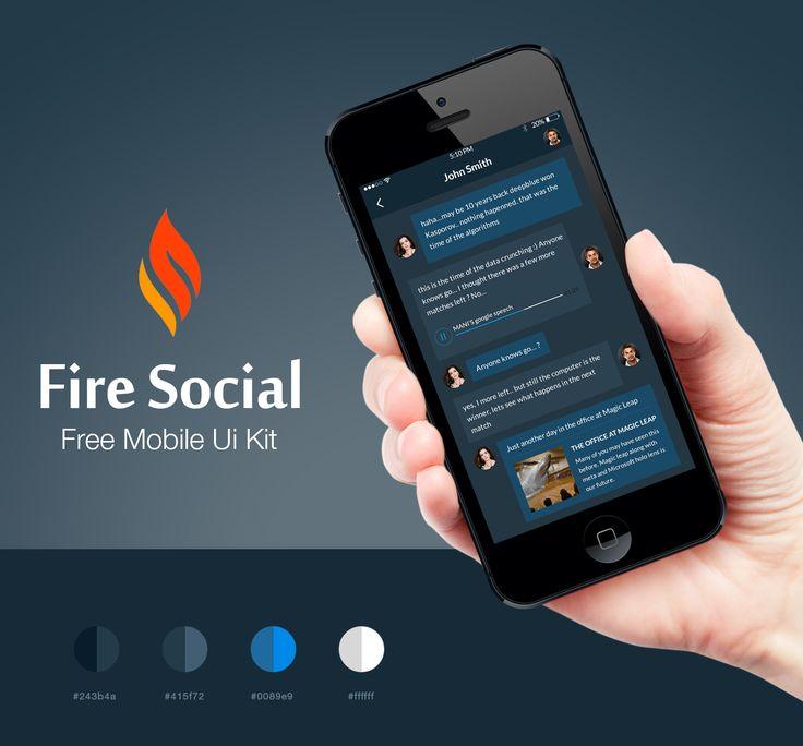 Fire+Social+App+Mobile+UI+Kit