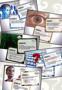 Ce document regroupe 5 séries de cartes à tâches traitant de l'éducation aux médias.  Voici le contenu de ce produit : - 28 questions à court développement concernant la cyber-intimidation ; - 28 questions à court développement concernant le vol d'identité ; - 24 questions à court développement concernant la cyberdépendance ; - 24 questions à court développement concernant la désinformation ; - 24 questions à court développement concernant la netiquette ; - Une fiche de suivi pour chacune…