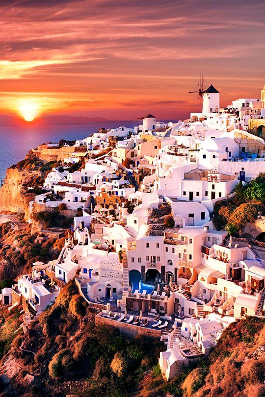 Maravillosa vista. I likeeeeeeeee.  Santorini   vividessentials