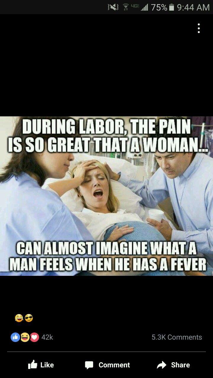 When men are sick.........