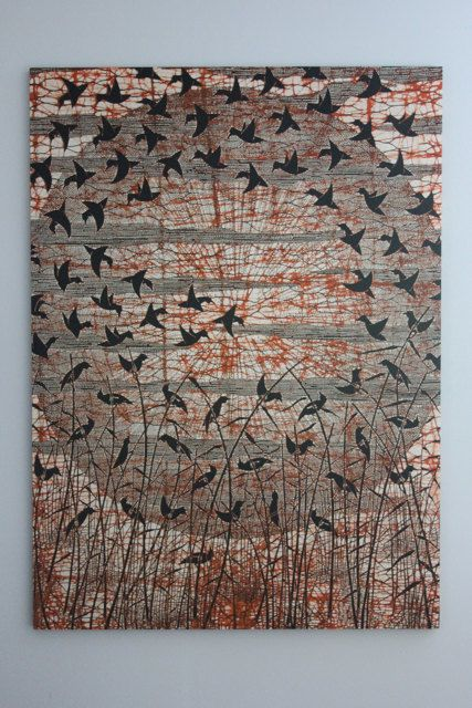 Danish Modern Textile Art Marimekko Style by CanalSideStudio