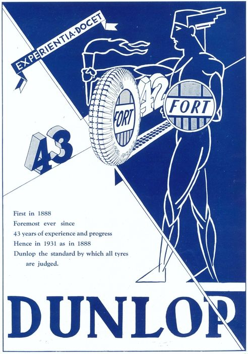The Dunlop brand of tyres is a subsidiary of the Goodyear tire and rubber company founded in 1888. The brand produces tyres for passenger, light truck, Off-the road application! Take a look at the 1931 ad of Dunlop tyres! #dunlop #tyres #ancient #transportation #advertisements