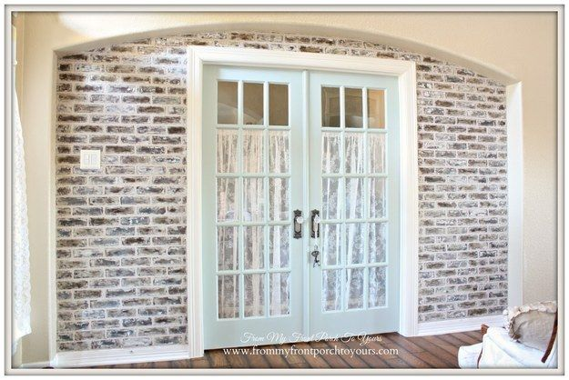 No exposed brick? Fake it with faux brick panels and some chalk paint.