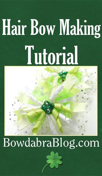 Hair Bow Making Tutorial: St. Patrick's Day Boutique Bow with Tulle