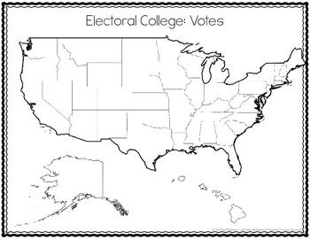 Electoral College Activity Students complete a map showing them how many electoral college votes each state receives and then the students add the states to see which states can combine together to get a candidate elected with the least amount of states.