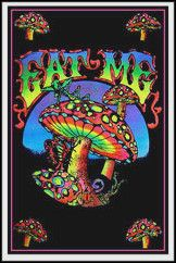 Eat Me Black Light Poster www.trippystore.com/eat_me_black_light_poster.html