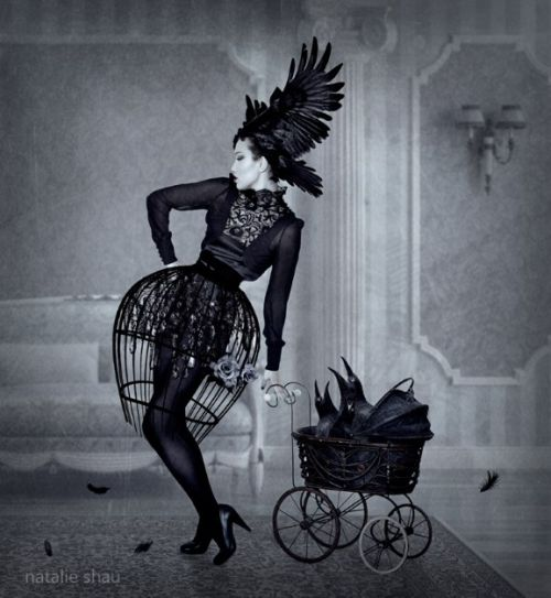 Haute Macabre : It Wasn't Just a Phase - Part 4  | surreal | occult | goth | editorial | dark fashion