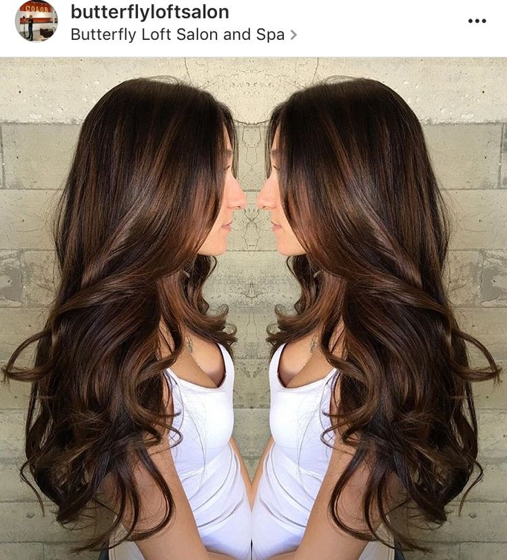 Beautiful chocolate brown hair color