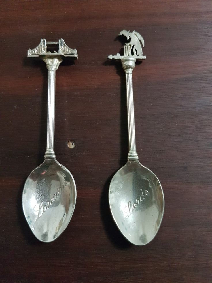 Antique Silver Plated Souvenir Collector Teaspoon from UK dated in the 70's