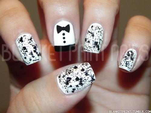 Love the tuxedo nail