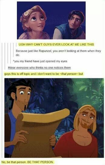 "Heehee... ""The look"" in the Road to el Dorado"