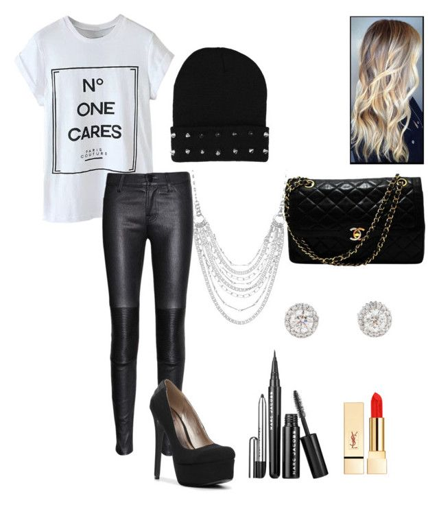 Chanel west coast style by brooklynburnworth on Polyvore featuring polyvore fashion style J Brand Qupid Chanel Chaps Marc Jacobs PUR clothing