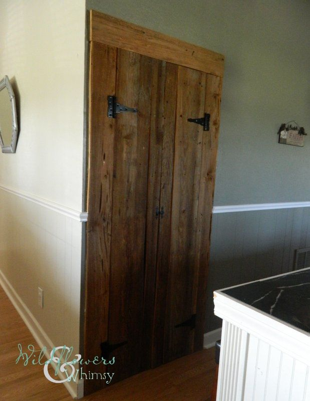 #DIY barn style pantry doors