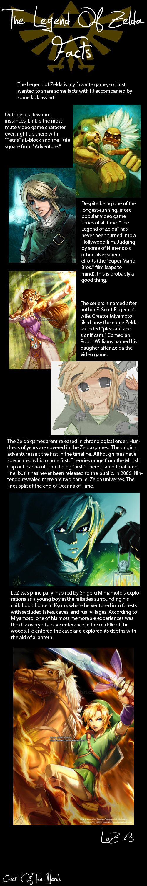 """Zelda Facts - of course the timeline has been more or less sorted out via """"Hyrule Historia"""" (which I have yet to get boo hoo)"""