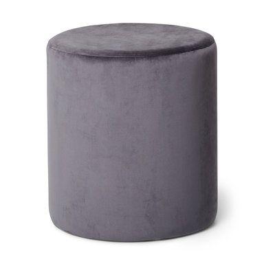 Sittpuff sammet, 41x47 cm, grå