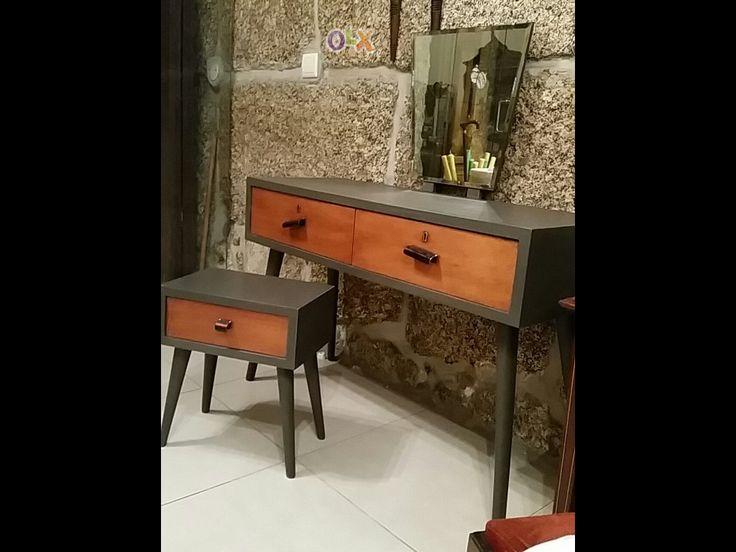 Toucador com mesa de apoio Vintage
