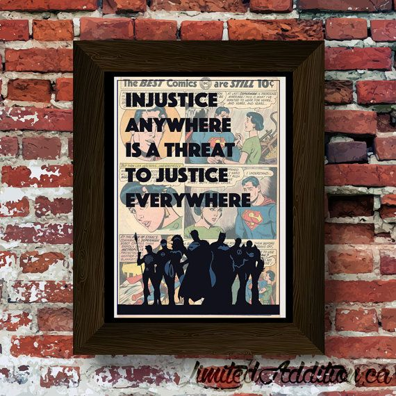 Justice League Injustice Quote Upcycled by LimitedAdditionPrint