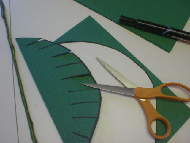 Palm branches craft