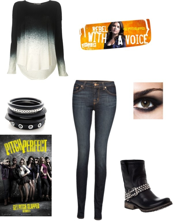 """pitch perfect- beca's look"" by sparkles889 ❤ liked on Polyvore"