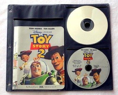 DVD Storage Binder CD Blu Ray Album Book 240 Disc Holder Black Box Case Sleeves