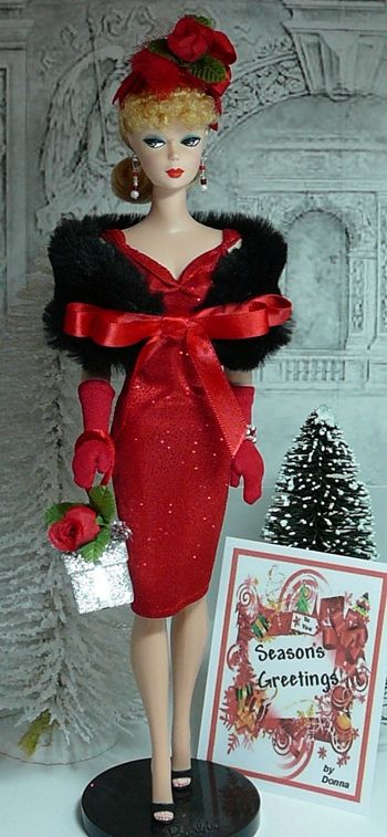 Beautiful Vintage Barbie Seasons Greetings | DDD