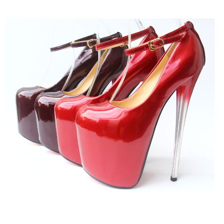 Высокая пятки обувь женщина платформа туфли на высоком каблуке высокая высокие каблуки лакированная кожа 20 см 43 размер красный фиолетовый сексуальный ночной клуб обувь подиуме туфли на высоком каблуке