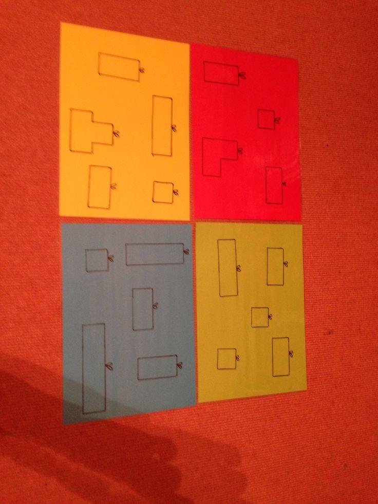 Welk duplo blokje past in welk pakje. . . Spel voor peuter-eerste kleuter