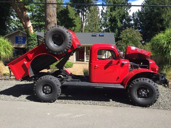 This 1949 Dodge Power Wagon (chassis83913326) comes with records and registration for a good portionof its life, and was reportedly purchased new by the Spokane, Washington Fire Department where it remained until 1975. Since restored and upgraded, the truck now runs a 440 big block, 727 TorqueFlit