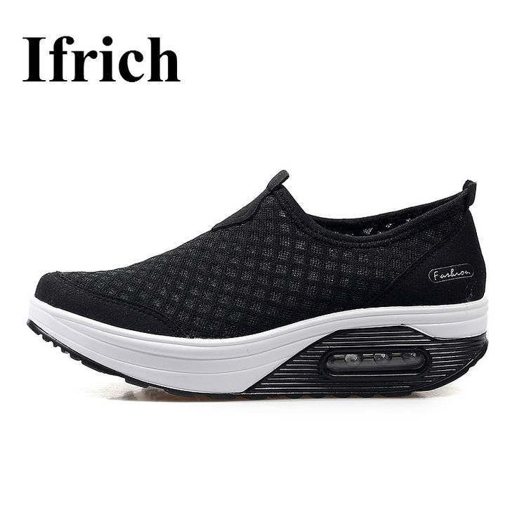 Ifrich Summer Womens Luxury Sneakers 2017 Breathable Walking Shoes Cheap Women Sport Shoes Slip On Jogging Trainers #Affiliate