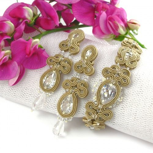 #bridal #set #wedding #jewelry #soutache  www.pillowdesign.pl