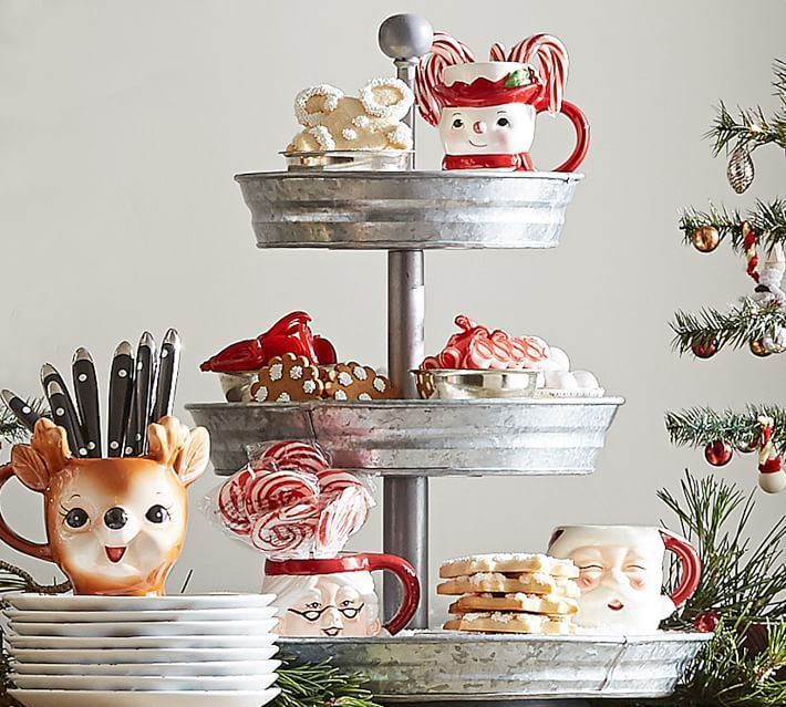 Imagine The Possibilities For The Upcoming Holidays With This Galvanized  Metal Tiered Stand.