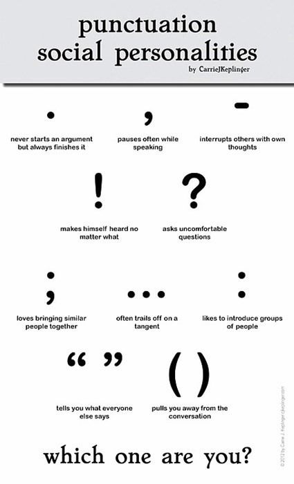 Punctuation and social personality