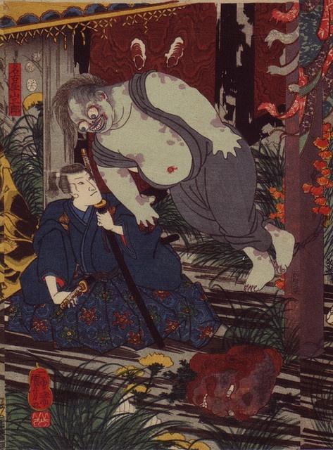 Utagawa Kuniyoshi, inflatable ghost, detail