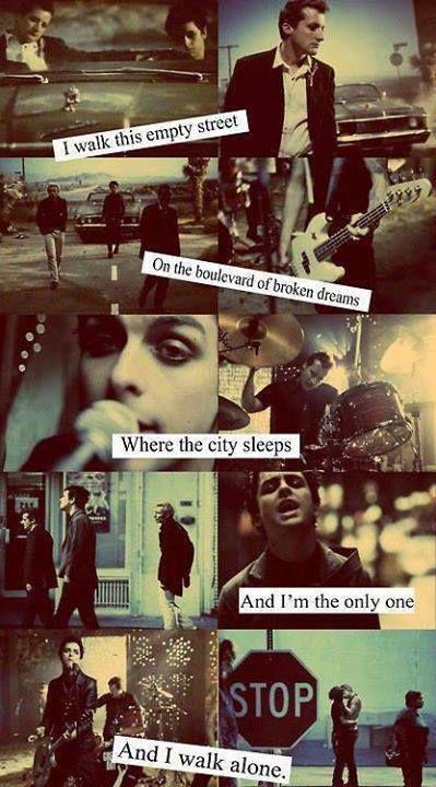 green day, Billie Joe Armstrong, Tre Cool, Mike Dirnt, Boulevard Of Broken Dreams