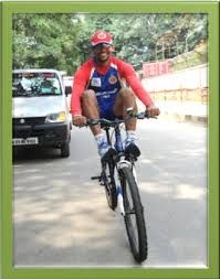 royal challengers bangalore green movement with cycles