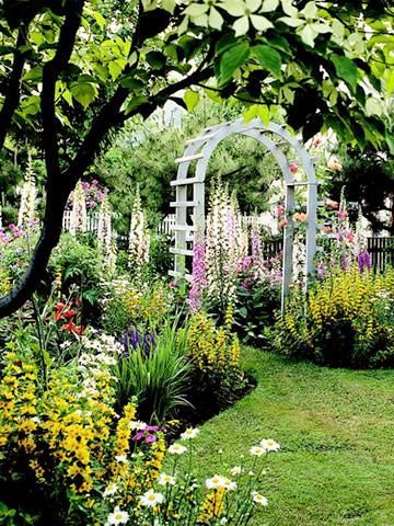 17 best images about garden fences arbors walls on for Sunny landscape designs