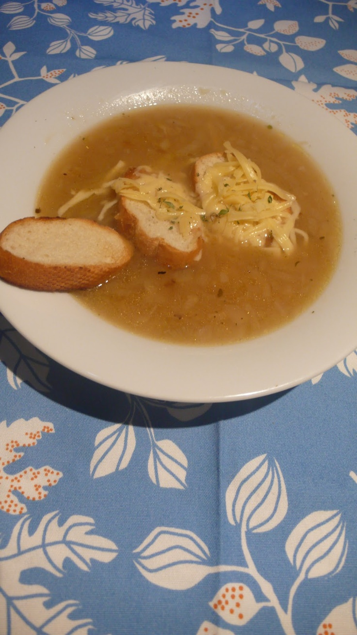 Francúzska cibuľová polievka podľa Julie Child. veľmi dobrá