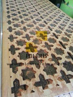 POLARIS Laser Cutting dan CNC Surabaya: partisi interior material triplex 12 mm cutting CN...